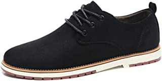 2019 Mens New Lace-up Flats Oxford Shoes Mens Suede Leather for Men Formal Shoes Lace Up Style Casual Outdoors Pure Colors Low Top