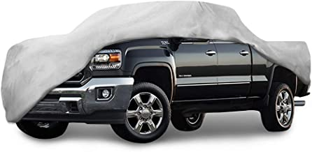 Motor Trend T-850 Sierra HD Weatherproof for 2008-2018 GMC 2500HD/3500HD-Crew Cab Custom Fit Truck Cover (Outdoor Use UV Protection Waterproof)
