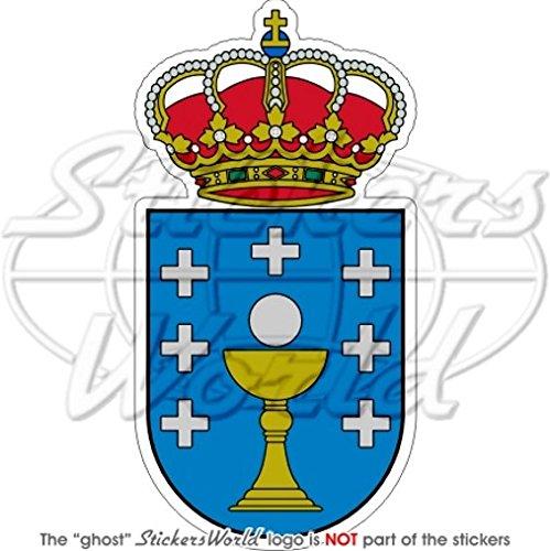 Galicia Gallegos Escudo Insignia Escudo España Español 115 mm (4.5) vinilo Bumper, adhesivo: Amazon.es: Jardín