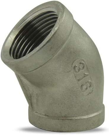 ezfitt/ /Gomito 45//° femmina//femmina in acciaio inox 316