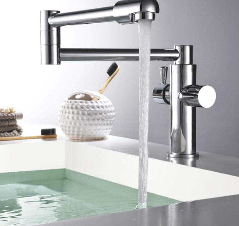 Küchenarmatur Klapparmaturen Hei Kaltwassermischer Messing Waschbecken Wasserhahn Chrom 360 ° gedreht Deck montiert