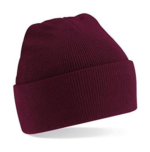 Beechfield - Bonnet - Homme taille unique - Rouge - Bordeaux - Taille unique