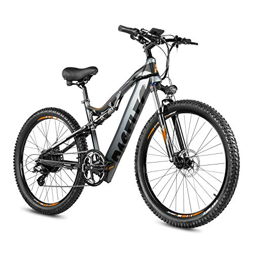 PASELEC Electric Bikes for Adult, Electric Mountain Bike, E-Bike Moped with 48V 13ah Lithium Battery, 350W Professional E-MTB (GRAY)