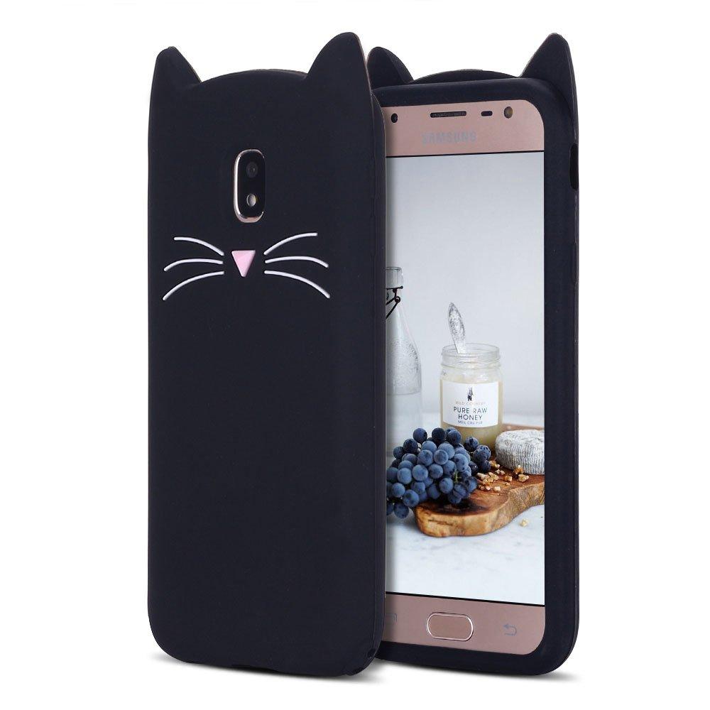 Funda Para Samsung Galaxy J5 2017, CaseLover 3D Linda Gato Carcasa para Samsung Galaxy J5 2017 Suave TPU Silicona Protectora Caso Flexible Goma Gel Dibujos Animados Parachoques Tapa Case Cover: Amazon.es: Electrónica