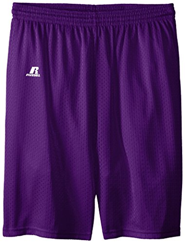 Russell Athletic Big Boys' Youth Mesh Short, Purple, Large