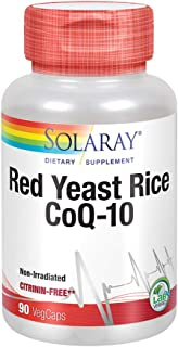 Solaray Red Yeast Rice Plus CoQ-10 | with Niacin for Added Cardiovascular Health Support | Non-Irradiated & No Citrinin | ...