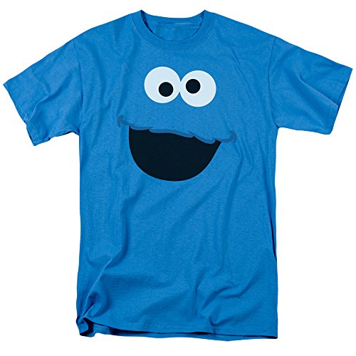 Sesame Street Cookie Monster Face Mens Short Sleeve Shirt Large