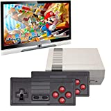 Nicico Wireless Classic Handheld Game Console, Built-in 620 Classic Game Console and 2 2.4G Dual Wireless Controller AV Output Tv Video Game Console