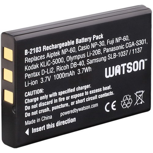 Price comparison product image Watson NP-60 Lithium-Ion Battery Pack (3.7V,  1000mAh)
