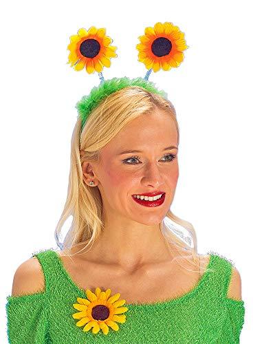 Sonnenblumen Haarreif zum Gärtnerin oder Blumenwiese Kostüm