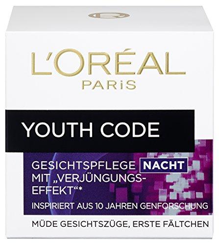 L'Oreal Paris Youth Code Nachtverzorging, hydrateert en maakt de huid glad, 50 ml