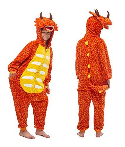 Unisexo Pijama Animal Entero Traje Disfraz para Niña Niño Invierno Franela Onesies Ropa de Dormir Cosplay Carnaval Halloween Navidad