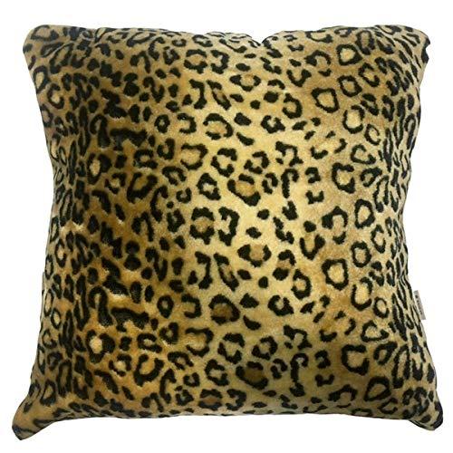 Rasilan Funda de cojín Leopardo Terciopelo
