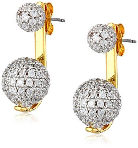 nOir Jewelry Gold Pave Sphere Earrings Jackets