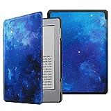 Fintie Funda para Kindle 5/Kindle 4 - La Más Delgada y Ligera Carcasa de Cuero Sintético con Cierre Magnético, Cielo Estrellado