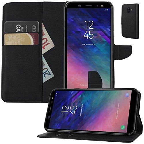 MOELECTRONIX Buch Klapp Tasche Schutz Hülle Wallet Flip Hülle Etui passend für Samsung Galaxy A6 DuoS SM-A600FN/DS