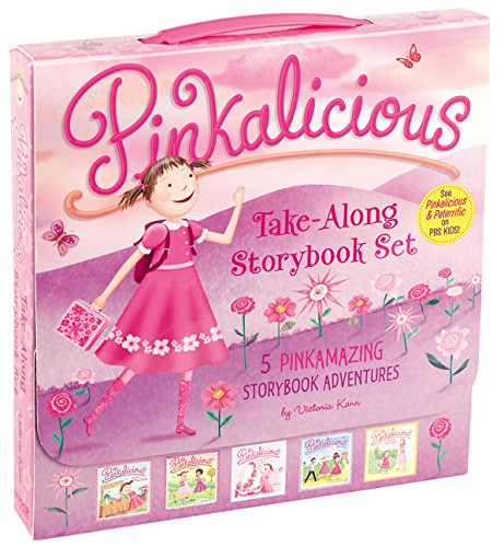 The Pinkalicious Take-Along Storybook Set: Tickled Pink, Pinkalicious and the Pink Drink, Flower Gir
