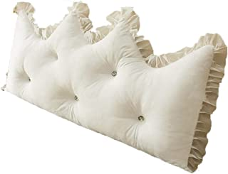 Almohadas de Lectura Triangular Cabecero de Refuerzo Grande Respaldo de posicionamiento cuña de Apoyo (Color : Blanco, Size : 150 * 70cm)