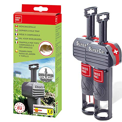 Swiss Inno SuperCat Gopher & Vole Trap, Pack of 2