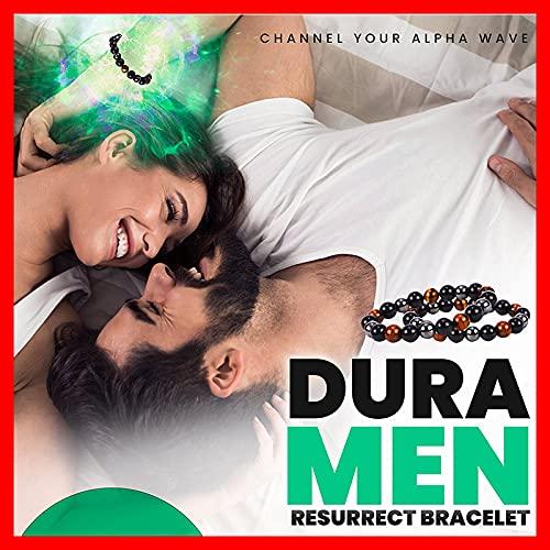 Duramen Energy Resurrect Bracelet, Stylish Triple Power Men's Steelhard Bracelet, Men Steel Hard Triple Infrared Bracelet, Lymph Drainage Tiger's Eye Triple Bracelet (2PCS)