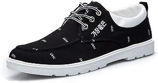 Factory Direct 2019 Autumn New Men's Shoes Korean Students Canvas Shoes Trend Casual Shoes Ryan Cloth Shoes Wholesale (Color : Black, Size : 42)