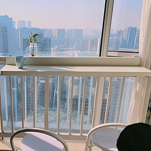 Mesa Plegable de Pared Mesita, Plegable de Balcón Grande de Escritorio, Tamaño del Escritorio: 80 * 40 cm,Blanco