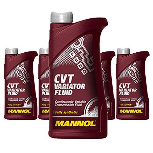 5 x 1L MANNOL CVT Variator Fluid / Automatik-Getriebeöl 236.20