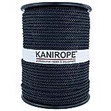 Kanirope® Polyesterseil Seil Polyester POLYBRAID 4mm 100m Schwarz 8-fach geflochten