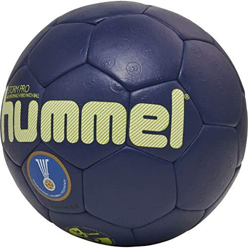 hummel HMLSTORM PRO-Handball Sport, Blau/Gelb, 3