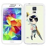 Attack on Titan Manga Anime Comic Samsung Galaxy S5 SV Black White Case Cover (#6 White)