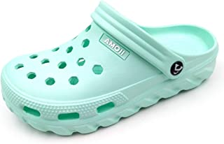 AMOJI Unisex Garden Clogs Shoes Sandals Slippers AA1521
