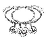2 pulseras de la amistad, con forma de corazón