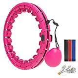 AgoKud Smart Weighted Hula Hoop, 360° Massage Auto-Spinning Fitness Hula Hoops with Ball 24 Knots Detachable Adjustable Hoola Hoops for Adults and Kids Weight Loss