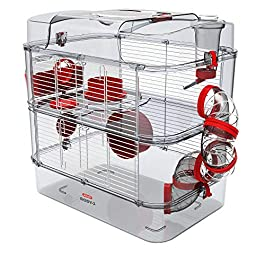Zolux Rody 3 Duo Gerbil Cage For Hamster Mouse 41x27x40.5 cm