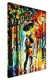 """Canvas It Up, quadri a stampa su tela, """"Dance under the rain"""" (ballo sotto la pioggia) di Leonid Afremov, astratto, formato poster, Tela, 03- A2 - 24' X 16' (60CM X 40CM)"""