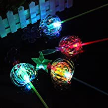 Ezyz Flashing Wand Toy Light Up Toy Creative Colorful Sparkling Spindle Wand Light Up Spinner Toy for Wedding Party Random Color