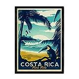 Nacnic Vintage Poster Costa Rica. Blätter für Interieur
