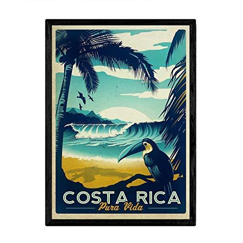 Nacnic Poster Vintage de Costa Rica. Láminas para Decorar Interiores con imágenes Vintage y de Publicidad Antigua. Cuadros decoración Retro. Tamaño A4