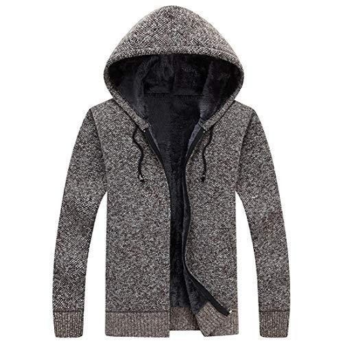 Men's Hoodie Winter Fleece Jackets Hooded Sweatshirt Outwear Thick Warm Coats Modern Fashionable Premium Quality Jackets Versatile Autumn Long Sleeve Top Classic Style M