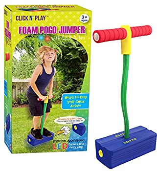 CLICK N  PLAY Foam Pogo Jumper - Makes Squeaky Sounds with Flashes LED Lights