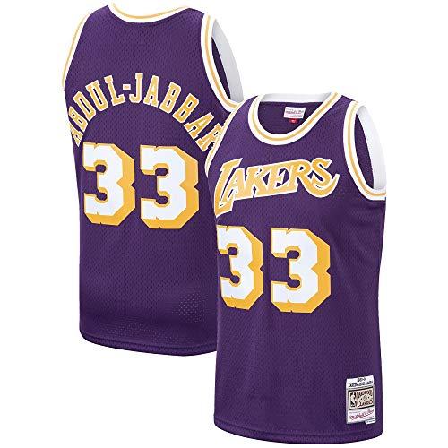 Kareem Abdul-Jabbar Los Angeles Lakers 1983-84 Swingman Purple Replica Jersey (Large)