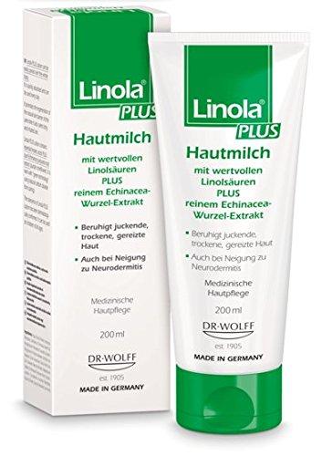 Linola Plus Hautmilch Spar-Set 2x200ml. Für die tägliche Anwendung am ganzen Körper. Juckreizlindernd und hautberuhigend.