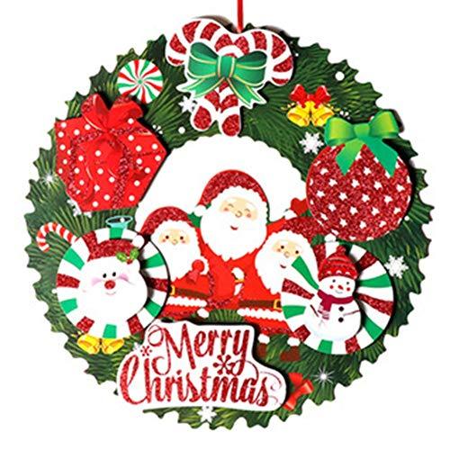 flower205 Kranz Weihnachtskranz Girlanden Haustür Fensterkranz Weihnachtsgirlande Papier Kranz Girlande des Feiertags 3D Für Haustür Party Decoraions Verzierungen