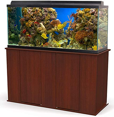 Aquatic Fundamentals 75-90 Gallon Aquarium Stand with Storage, Double Door Front Access, Serene Cherry, 36751-68-AMA