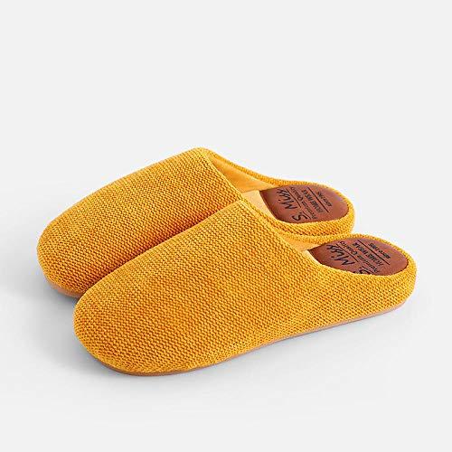COQUI Zapatillas casa,Zapatillas de algodón para el Piso Interior del hogar Zapatillas de Pareja cálidas y Simples Zapatillas de algodón para el hogar de Invierno-Gris Claro_40-41