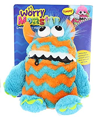 Worry Monster Plush Soft Toy blue & orange by PMS