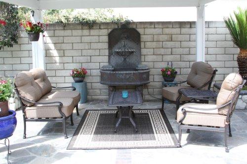 Hot Sale Heritage Outdoor Living Flamingo Cast Aluminum 5pc Outdoor Patio Deep Seating Set - Antique Bronze