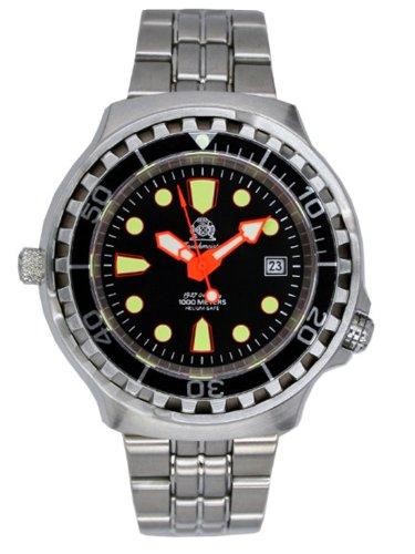 Tauchmeister Automatic, 1000m reloj de buceo con válvula de liberación de helio y zafiro T0264M