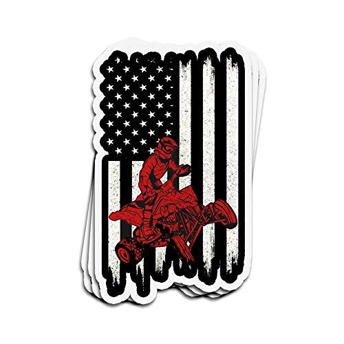 DKISEE 3 pegatinas de la bandera americana ATV/Quad Motocross troqueladas pegatinas de pared para...