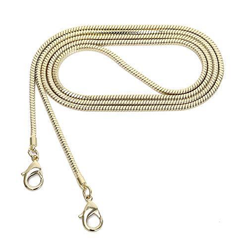 Reemplazo de correa de bolso Crossbody de cadena de monedero cuadrado pequeño de cobre